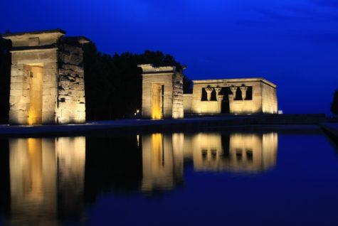 El templo de Debod Noche