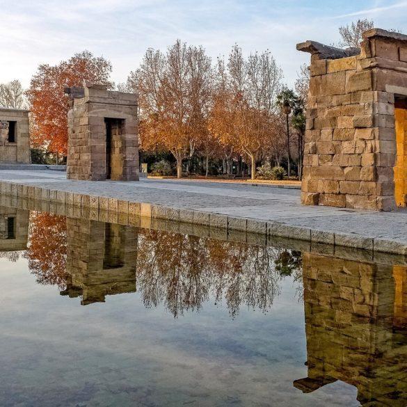 El templo de Debod Mañana