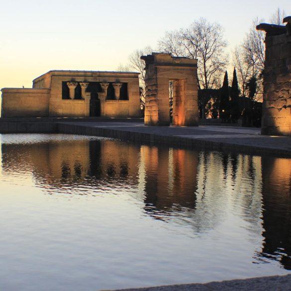 El templo de Debod Atardecer
